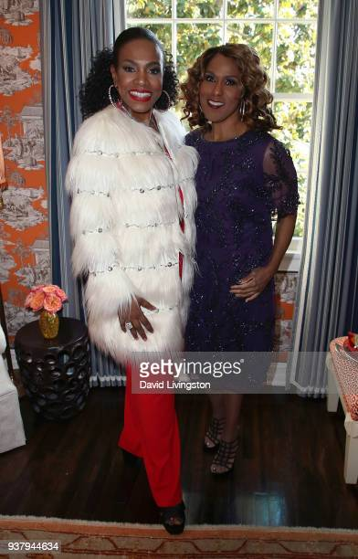 Actress Sheryl Lee Ralph and singer Jennifer Holliday attend Project Angel Foods' Dream Come True at the 3rd annual Garden Party at a private...