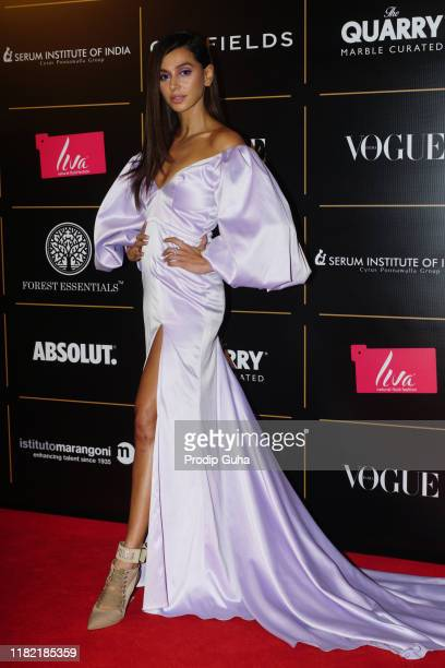 Actress shibani dandekar attend the Vogue Women of the Year on October 19, 2019 in Mumbai, India.