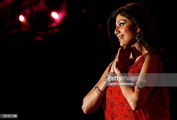 Actress Shilpa Shetty leaves the Celebrity Big Brother House having been announced as the winner of series five during the grand final at Elstree...