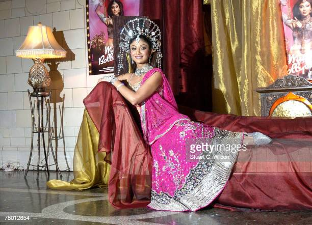 Actress Shilpa Shetty promotes a new production of the musical 'Miss Bollywood' at the Kempinsky Courthouse on November 20 2007 in London England