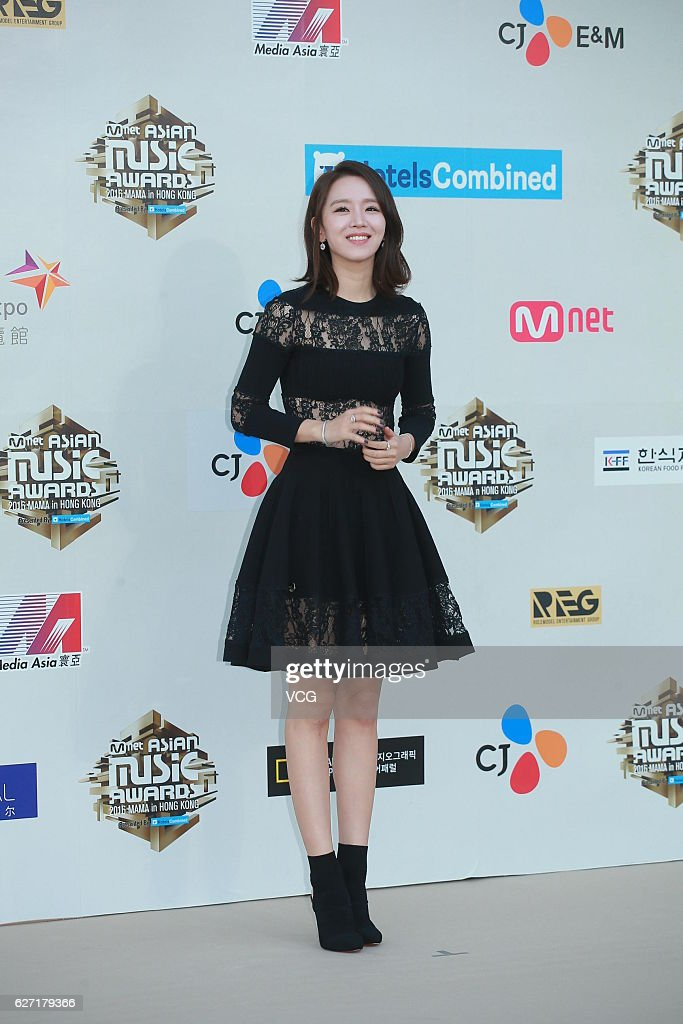 Actress Shin Hye-sun arrives at the red carpet during the 2016 Mnet