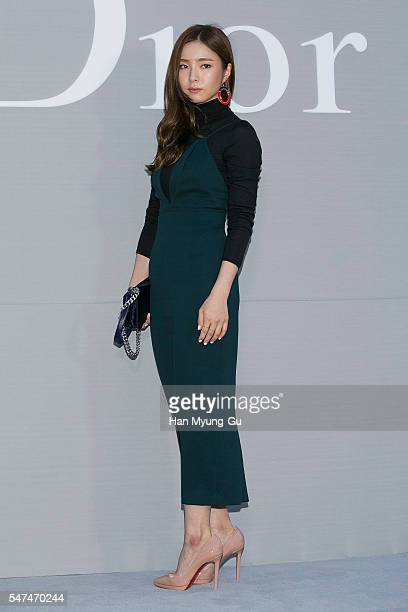 Actress Shin SeGyeong attends the photocall for Dior Colors on July 15 2016 in Seoul South Korea