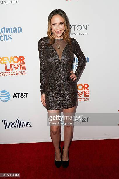 Actress Shira Lazar arrives at the TrevorLIVE Los Angeles 2016 Fundraiser at The Beverly Hilton Hotel on December 4, 2016 in Beverly Hills,...