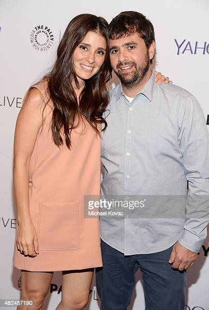 Actress Shiri Appleby and chef Jon Shook attend Paley Live An Evening With Lifetime's 'UnREAL' on July 30 2015 in Los Angeles California