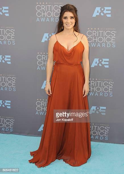 Actress Shiri Appleby arrives at The 21st Annual Critics' Choice Awards at Barker Hangar on January 17 2016 in Santa Monica California