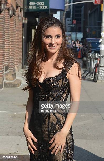 Actress Shiri Appleby arrives at The Late Show With Stephen Colbert at the Ed Sullivan Theater on May 23 2016 in New York City