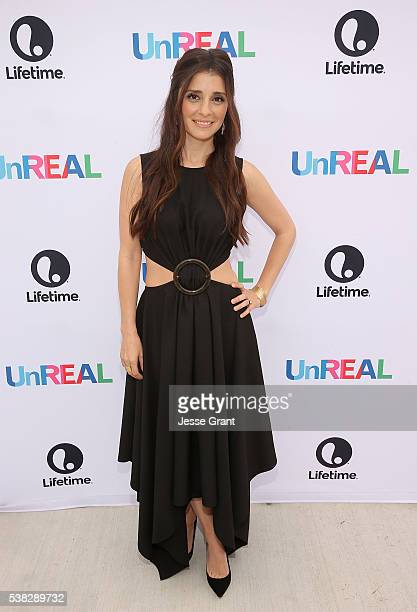 Actress Shiri Appleby attends the Lifetime UnREAL Group Date and Champagne Brunch Aboard Dandeana Yacht With Cast and Executive Producers In...