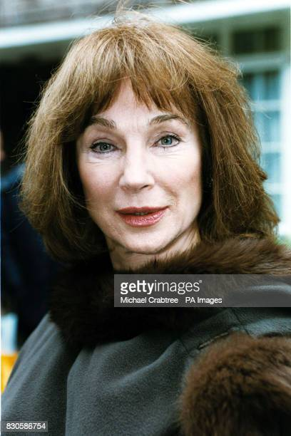 Actress Shirley Anne Field outside a house in Aubrey Walk Kensington London where a blue plaque was unveiled by the Musical Heritage to Sixties pop...
