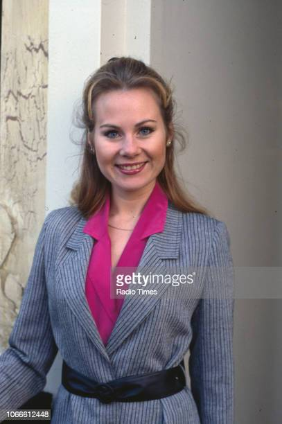 Actress Shirley Cheriton pictured on the set of the BBC soap opera 'EastEnders' November 21st 1984
