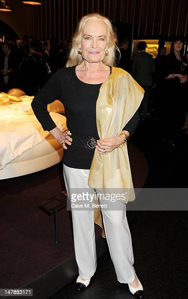 Actress Shirley Eaton attends the launch of 'Designing 007 Fifty Years of Bond Style' a new exhibition marking the 50th anniversary of the James Bond...