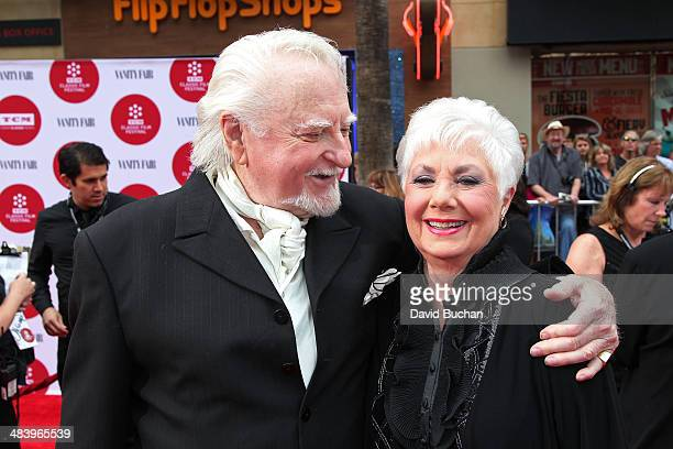 Actress Shirley Jones and actor Marty Ingels attends TCM Classic Film Festival opening night gala of Oklahoma at TCL Chinese Theatre IMAX on April 10...