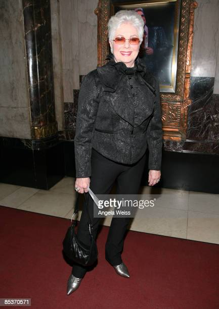 Actress Shirley Jones arrives for the opening night of Grease at The Pantages Theater on March 10 2009 in Hollywood California