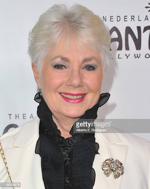 Actress Shirley Jones arrives to the Los Angeles Opening Night of Shrek The Musical' at the Pantages Theatre on July 13 2011 in Hollywood California