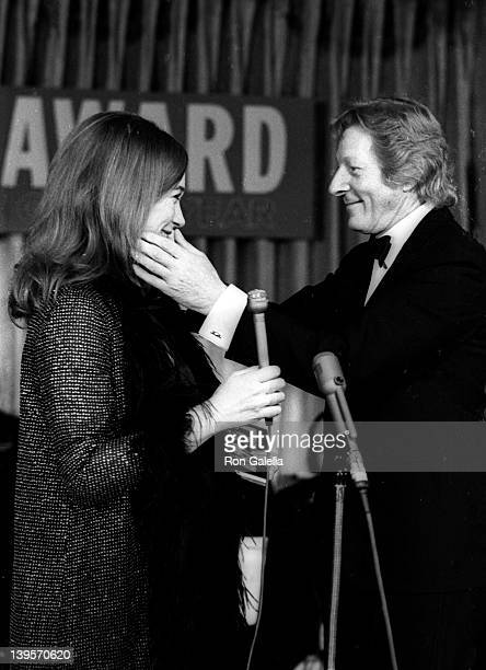 Actress Shirley MacLaine and actor Danny Kaye attend Cue Awards on January 7 1971 at the Pierre Hotel in New York City