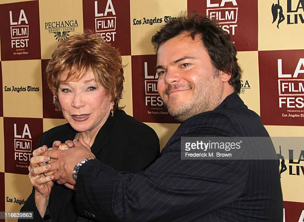 Actress Shirley MacLaine and actor Jack Black attend the Film Independent's 2011 Los Angeles Film Festival Opening Night Premiere of Bernie at the...