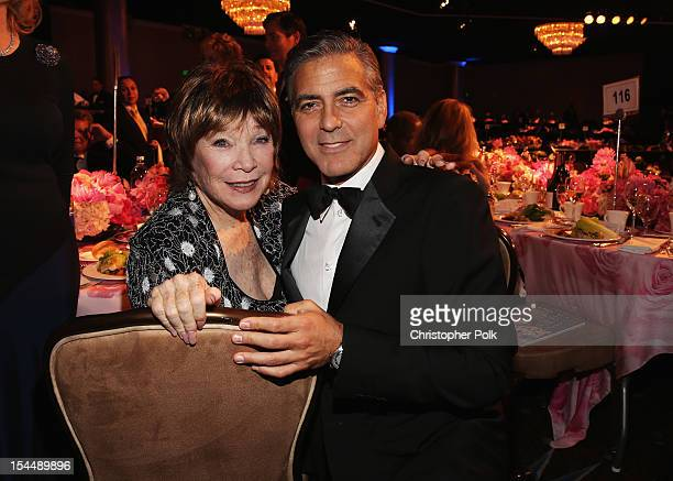 Actress Shirley MacLaine and Actor/Honoree George Clooney attend the 26th Anniversary Carousel Of Hope Ball presented by MercedesBenz at The Beverly...