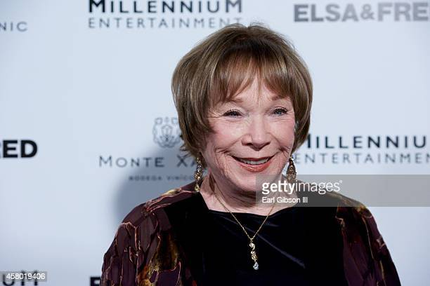 Actress Shirley MacLaine attends the Elsa Fred Los Angeles premiere at Sundance Cinema on October 28 2014 in Los Angeles California