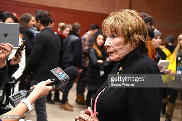 Actress Shirley MacLaine attends The Last Word Premiere at Eccles Center Theatre on January 24 2017 in Park City Utah