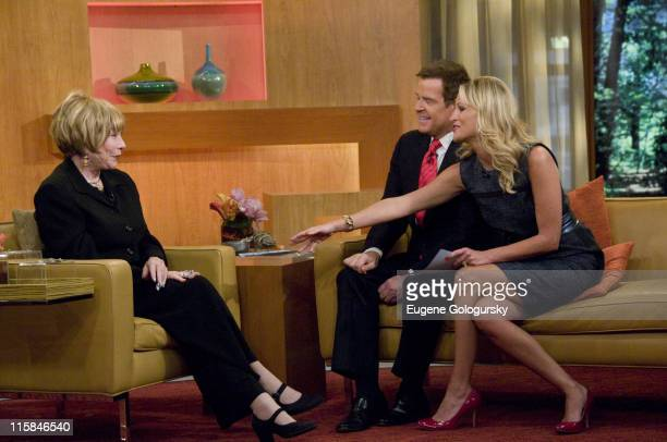 Actress Shirley MacLaine interviewed by TV personalities Mike Jerrick and Juliet Huddy on FOX's The Morning Show With Mike and Juliet on September 8...