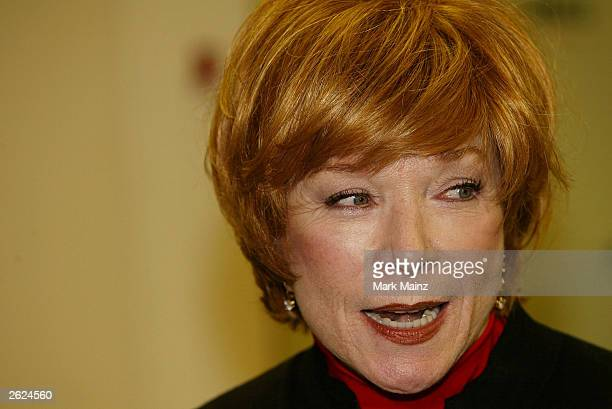 Actress Shirley Maclaine speaks at a signing for her new book 'Out on a Leash' at Barnes and Nobles Rockefeller Centre on October 21 2003 in New York...