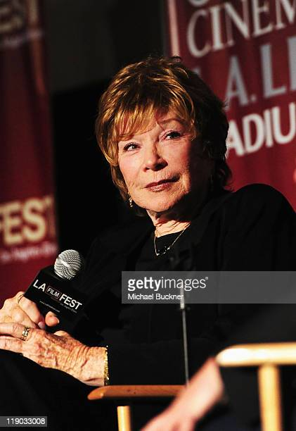 Actress Shirley MacLaine speaks onstage at Don't You Know Who I Am A Conversation With Shirley MacLaine Jack Black during the 2011 Los Angeles Film...
