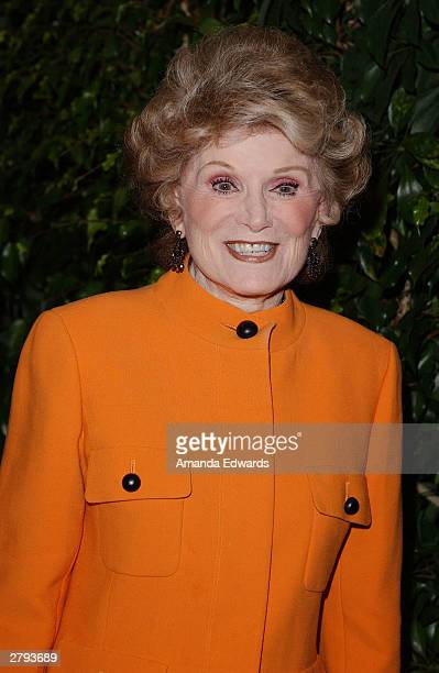 Actress Shirley Mitchell arrives at Tony Martin's 90th birthday party at The Friars Club on December 07 2003 in Beverly Hills California