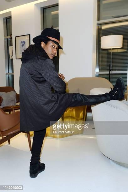 """Actress Shirley Souagnon attends """"Noire n'est pas mon Metier -1 an Apres"""" Lunch At Hotel Renaissance Paris Republique on April 25, 2019 in Paris,..."""
