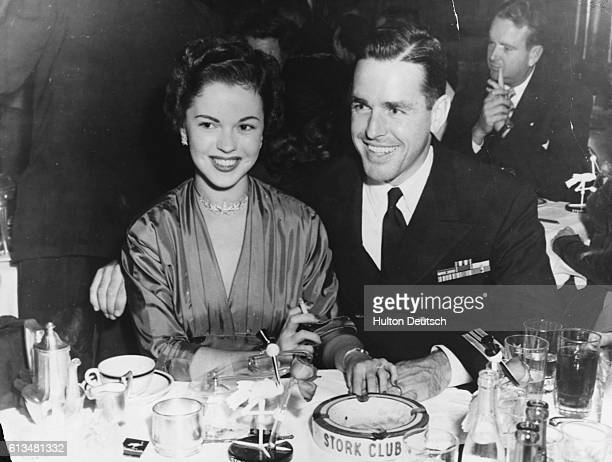 Actress Shirley Temple and her husband Charles G Black at the Stork Club ca 1953