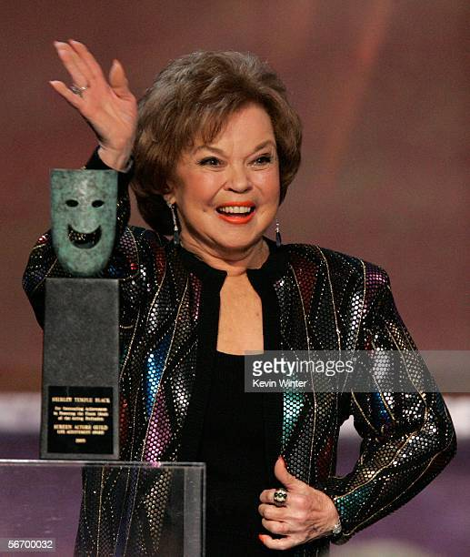 Actress Shirley Temple Black accepts the Life Achievement Award onstage during the 12th Annual Screen Actors Guild Awards held at the Shrine...