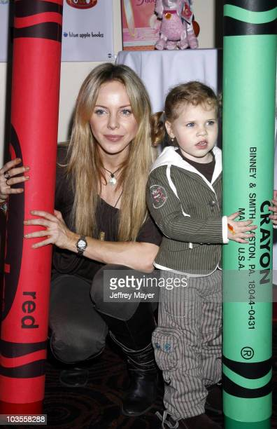 "Actress Shirly Brener and daughter Mila pose during the Jayneoni Moore ""Readalicious"" Book Bash at the Century Plaza Hotel on March 1, 2008 in Los..."