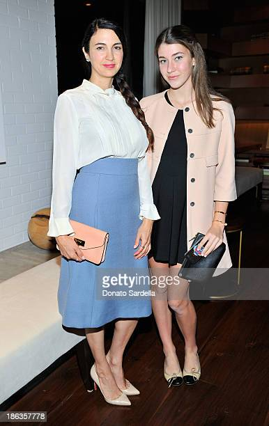 Actress Shiva Rose and Colette Rose McDermott attend Chloe Los Angeles Fashion Show Dinner hosted by Clare Waight Keller January Jones and Lisa Love...