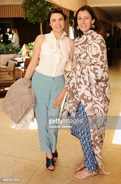 Actress Shiva Rose and Creative Digital Director of Vogue Sally Singer attend Vogue Lunch In Celebration Of The Etro Spring Collection Hosted By...