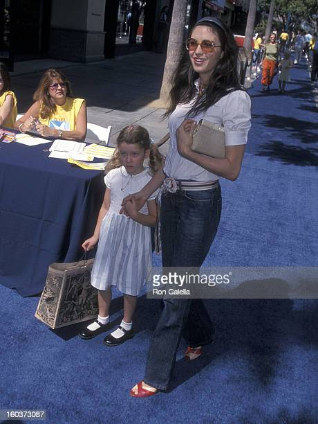 Actress Shiva Rose and daughter Colette McDermott attend Hollywood Celebrates the Partnership Between Old Navy and PS Arts on September 30 2001 at...