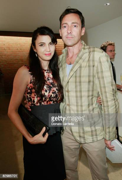 Actress Shiva Rose and Gregory Parihasa attend a dinner hosted by Vogue and Mulberry celebrating the work of Alexandra Grant on display at the 'Some...