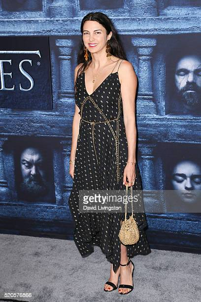 Actress Shiva Rose arrives at the premiere of HBO's 'Game of Thrones' Season 6 at the TCL Chinese Theatre on April 10 2016 in Hollywood California