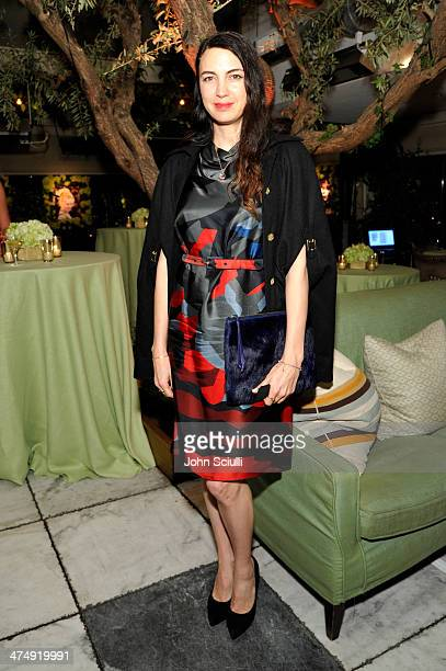 Actress Shiva Rose attends Decades of Glamour presented by BVLGARI on February 25 2014 in West Hollywood California