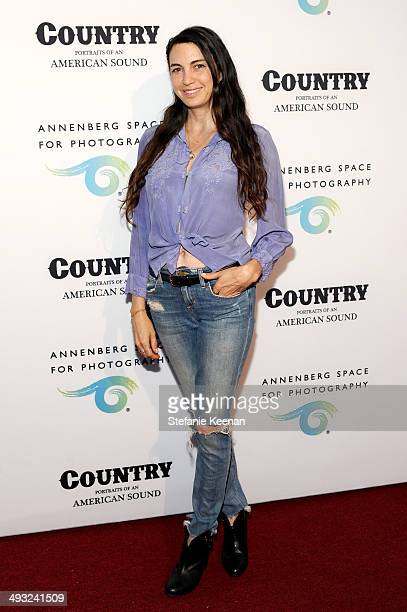 Actress Shiva Rose attends the Annenberg Space for Photography Opening Celebration for Country Portraits of an American Sound at the Annenberg Space...