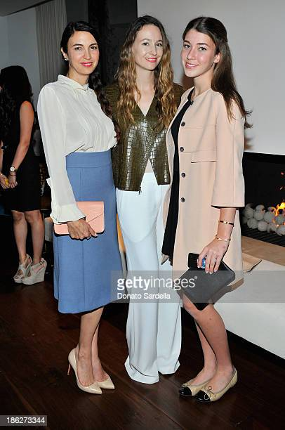 Actress Shiva Rose designer Jenni Kayne and Colette Rose McDermott attend Chloe Los Angeles Fashion Show Dinner hosted by Clare Waight Keller January...