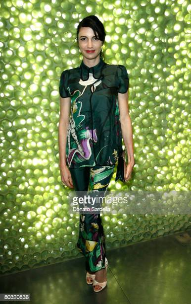Actress Shiva Rose wearing Prada attends the Los Angeles screening of Trembled Blossoms presented by Prada on March 19 2008 in Beverly Hills...