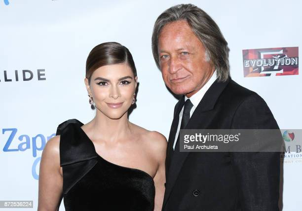 Actress Shiva Safai and Mohamed Hadid attend the 2nd annual Vanderpump Dog Foundation Gala at Taglyan Cultural Complex on November 9 2017 in...