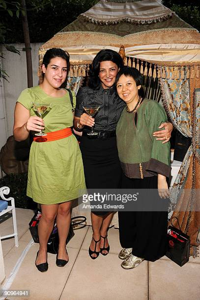Actress Shohreh Aghdashloo and her daughter Tara attend the DPA preEmmy Gift Lounge at the Peninsula Hotel on September 18 2009 in Beverly Hills...