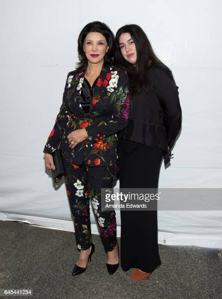 Actress Shohreh Aghdashloo and her daughter Tara Touzie during the 2017 Film Independent Spirit Awards at the Santa Monica Pier on February 25 2017...