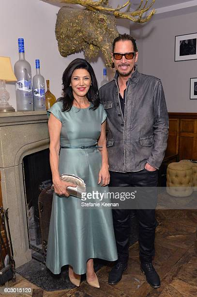 Actress Shohreh Aghdashloo and singer Chris Cornell at the The Promise TIFF party hosted by GREY GOOSE Vodka and Soho House Toronto on September 11...