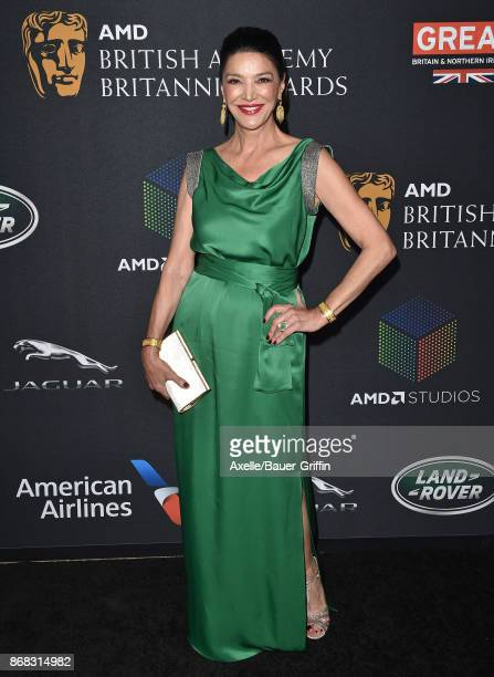Actress Shohreh Aghdashloo arrives at the 2017 AMD British Academy Britannia Awards at The Beverly Hilton Hotel on October 27, 2017 in Beverly Hills,...