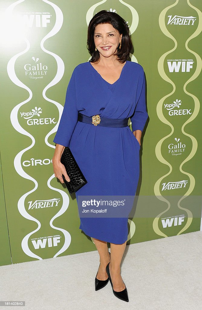 Actress Shohreh Aghdashloo arrives at the Variety And Women In Film Pre-Emmy Party at Scarpetta on September 20, 2013 in Beverly Hills, California.