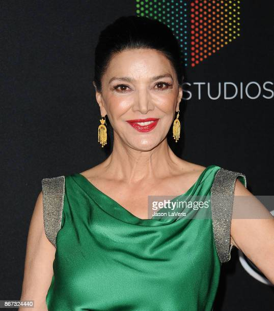 Actress Shohreh Aghdashloo attends the 2017 AMD British Academy Britannia Awards at The Beverly Hilton Hotel on October 27, 2017 in Beverly Hills,...
