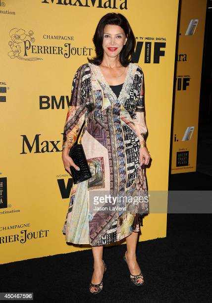 Actress Shohreh Aghdashloo attends the Women In Film 2014 Crystal Lucy Awards at the Hyatt Regency Century Plaza on June 11 2014 in Century City...