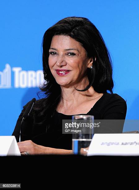 Actress Shohreh Aghdashloo speaks onstage at The Promise press conference during 2016 Toronto International Film Festival at TIFF Bell Lightbox on...
