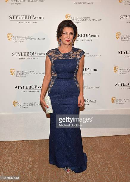 Actress Shohreh Aghdashloo with Stylebopcom attends the 2013 BAFTA LA Jaguar Britannia Awards presented by BBC America at The Beverly Hilton Hotel on...