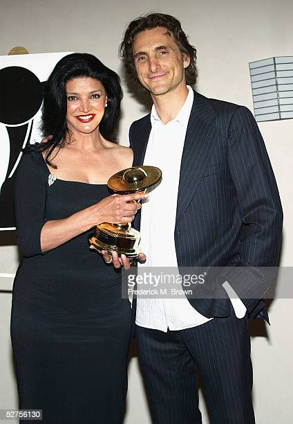 Actress Shohreh Aghdashoo and Lawrence Binder the 31st Annual Saturn Awards at the Universal Hilton Hotel on May 3 2005 in Los Angeles California